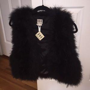 Haute Hippie NWT feather vest